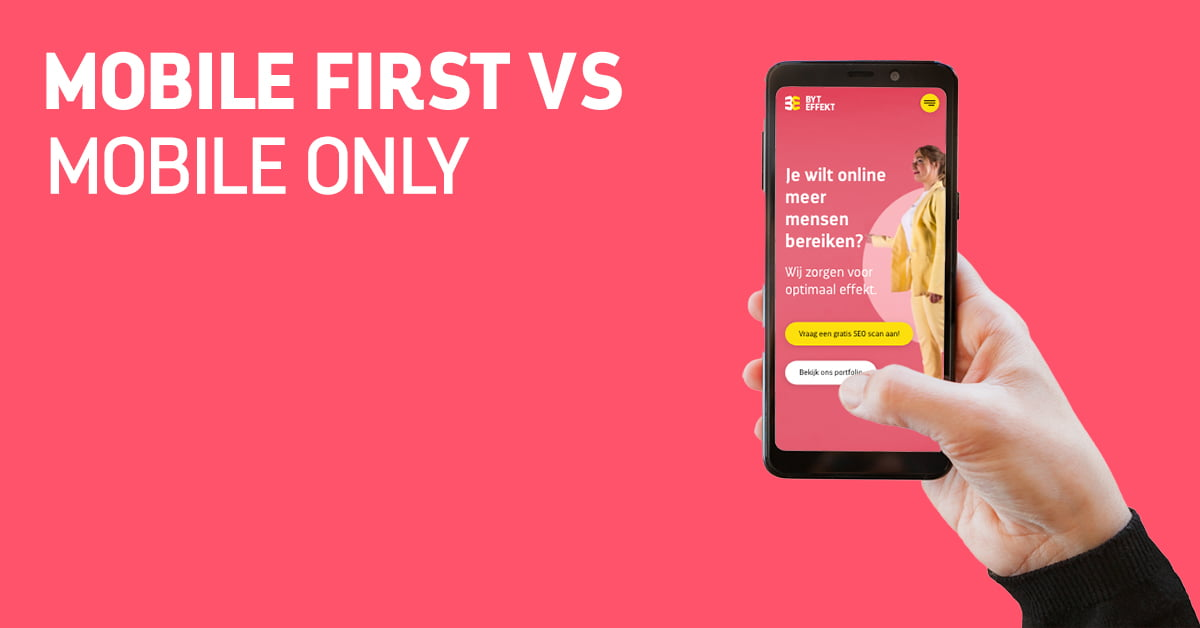Blog: Mobile first vs. Mobile only.